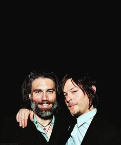 Anson Mount & Norman Reedus....this may be the greatest picture on earth. EVER!