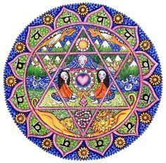 4th Chakra Mandala Art Card heart anahata by LindyLonghurst, $4.50