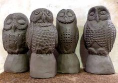 Owl Light Pulls Demo Zoo Ceramics