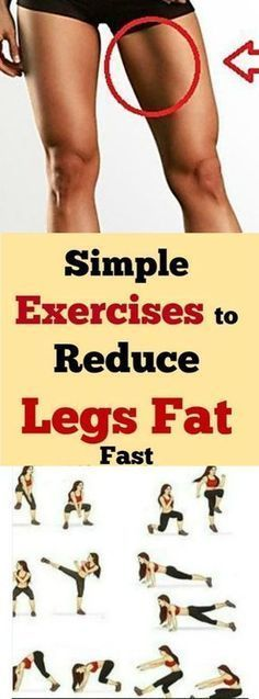 Simple & Effective Exercises To Reduce Leg Fat Fast #SimpleExcercises