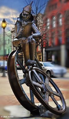 The Tin Man York, PA by Jimi Jones  #Sculpture #Steampunk