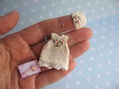WEARABLE Miniature Dress Bonnet Pacifier for by YuliyasOOAKdolls