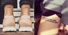Najlepšie minimalistické tetovania s odkazom.