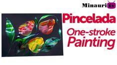 DIY - Pincelada / One stroke painting by Luz Angela