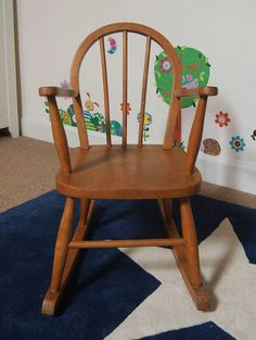 Childu0027s Rocking Chair, Vintage Wooden Rocking Chair, Childrenu0027s Furniture,  Vintage Toys, Ercol Style Chair, Toy Shop Decor, Playroom Decor