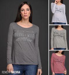 La Remera Rachna se suma a nuestra colección nada menos que en ¡7 colores distintos! Las #estampas están de moda. Sweatshirts, Sweaters, Fashion, Female Clothing, Fall Winter, Blouses, Trends, Colors, Style