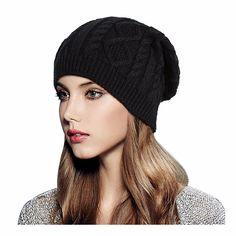 83e56c7a52f Glamorstar Women Cable Knit Beanie Winter Warm Crochet Hats Chunky Stretch  Ski Cap Hat Stores