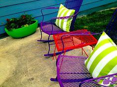 Purple Outdoor Rocker Striped Pillows Patio Furniture Colorful432 X  324240.2KBroomfu.com