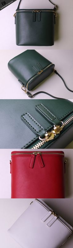 leather-bucket-bag-shoulder-bag-green-red-white-black-for-women-leather-crossbody-bag