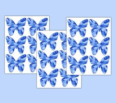 BLUE CAMO BUTTERFLY Wall Decals Baby Girl Camouflage Nursery Decor Kids Room Children's Stickers Art Decor #decampstudios