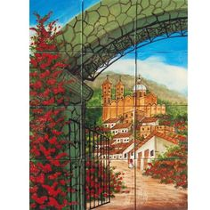 Mexican Style Mural - Puerta De Hierro