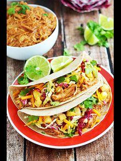 Hawaiian BBQ Chicken Tacos