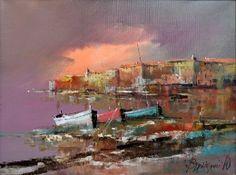 Branko Dimitrijevic, Storm, Oil on canvas, 30x40cm