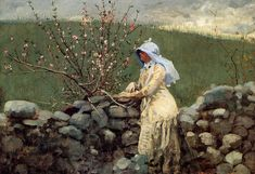 Fan account of Winslow Homer, an American landscape painter and printmaker. He is considered one of the foremost painters in America and a preeminent figure in American art. Winslow Homer Paintings, Art Paintings, John James Audubon, Social Art, Peach Blossoms, Oil Painting Reproductions, Illustrations, American Artists, Great Artists