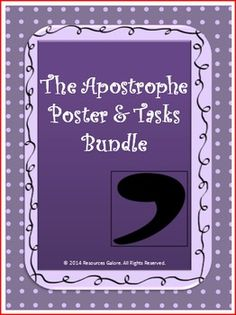 The Apostrophe Poster is a very versatile resource to teach and remind students about the usage of an apostrophe in English Language Arts Class. This graphic organizer presents in a nutshell how an apostrophe should be used. This can be used as a poster on the walls of the classroom or a handout to students, which is presented in an eye-catching color with rules and examples.