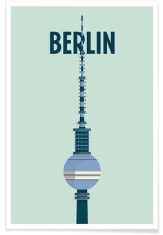 Berlin als Premium Poster von Designliga Products JUNIQE Berlin Art, Berlin Skyline, City Poster, Berlin Travel, Graphisches Design, Design Shop, Poster Online, Old Ads, Berlin
