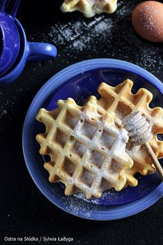 GOFRY IDEALNE - CHRUPIĄCE I LEKKIE! Purine Diet, Helathy Food, Cookies And Cream Cake, Coleslaw, Sweet Life, Sweet Recipes, Waffles, Food And Drink, Sweets