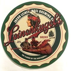 """Bring the """"Legend of the North Woods"""" home with the Jacob Leinenkugel's sign. Hang this classic Leinenkugel's Sign in your, bar, garage, basement, barn, mancave, or media room. This sign is sure to be"""