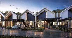 Modern Architecture Design, Facade Design, Roof Design, Residential Architecture, Exterior Design, Terrace House Exterior, Townhouse Exterior, Facade House, Duplex House Design
