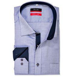 Regular Fit voľná košeľa Tmavomodrá jednofarebná 100% bavlna Royal Oxford (panama)