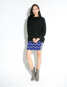 GREY TWIST SKIRT http://arcloset.com/product_view.php?gs_idx=BO130071SK