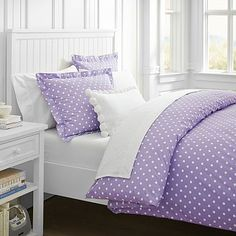 Dottie Duvet Cover + Sham, Purple #pbteen