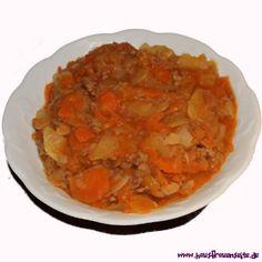 Möhren-Kartoffeleintopf mit Hackfleisch unser Möhren-Kartoffeleintopf mit Hackfleisch ist der einzig wahre Eintopf! laktosefrei glutenfrei