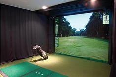 Golf simulator for the husband