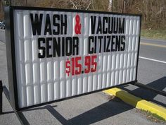 Clean Senior Citizens, it's a goal.  Wish I hadn't laughed so very very hard!
