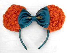 Merida Ohren - New Ideas Disney Minnie Mouse Ears, Diy Disney Ears, Cute Disney, Brave Disney, Disney Ears Headband, Disney Headbands, Ear Headbands, Braided Headbands, Brave Merida