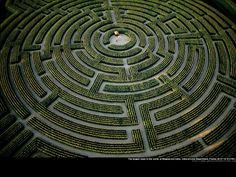 Once one of the world's largest plant mazes, this circular creation covers 10 acres of land at Reignac-sur-Indre in Touraine, France. It too is reaped every year and grows back in a different form as a result of careful design, planning and farming.