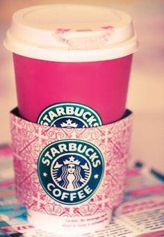 Pink Starbucks cup..