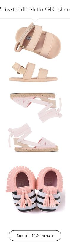 """""""Baby•toddler•little GIRL shoes"""" by ohheyybeautiful ❤ liked on Polyvore featuring baby shoes, shoes, sandals, rubber sole shoes, genuine leather shoes, gypsy sandals, wrap shoes, wrap around sandals, flats and embellished flats"""
