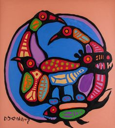 Buy online, view images and see past prices for Norval Morrisseau Canadian Acrylic Invaluable is the world's largest marketplace for art, antiques, and collectibles. Native Canadian, Canadian Artists, South American Art, Native American Art, Woodlands School, Circle Of Life, Native Art, First Nations, Elementary Art