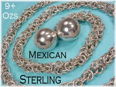 Sterling Silver Chain Belt 42 Necklace  Mexico by FindMeTreasures