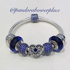 The September birthstone is the gorgeous Sapphire! #pandora #jewelry #bracelet #charms #sapphire #september #reddeer #potd #like4like #follow4follow