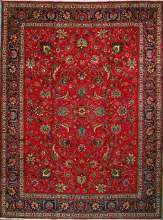 "Tabriz Persian Rug, Buy Handmade Tabriz Persian Rug 9' 9"" x 13' 1"", Authentic Persian Rug"