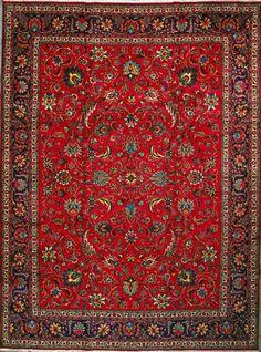"Tabriz Persian Rug, Buy Handmade Tabriz Persian Rug 9' 9"" x 13' 1"", Authentic Persian Rug"
