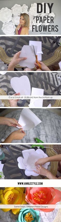 DIY Paper Flower Backdrop | LifeAnnStyle.com