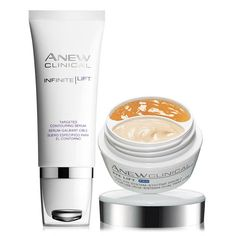 Give yourself an at-home visible lift with our ANEW Clinical Infinite Lift Targeted Contouring Serum and ANEW Clinical Eye Lift Pro Dual Eye System. #ANEWyou