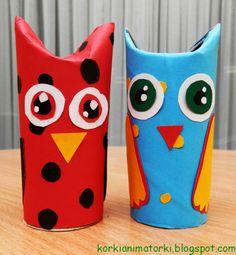 KorkiAnimatorki- worek pomysłów na zabawy z dziećmi:): Zbieramy rolki po papierze toaletowym!:) Crafts For Kids, Arts And Crafts, Paper Roll Crafts, Baby Art, Planter Pots, Projects To Try, Techno, Jar, Color