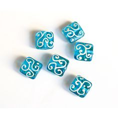 Greek Sea Glass Bead, lampwork, light blue bead, blue and ivory,... (3.25 AUD) ❤ liked on Polyvore featuring home, home decor, sea home decor, handmade home decor, glass home decor, ocean home decor and greek home decor