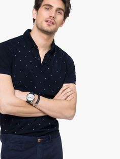 POLO SHIRT WITH PRINTED FRONT