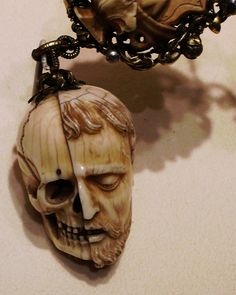 Memento Mori.    Carved ivory rosary, early 16th century. Currently in the Metropolitan museum of art, New York.