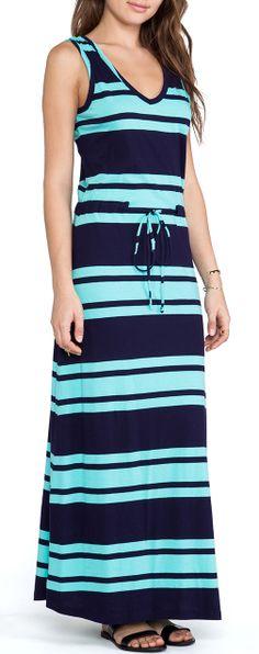 Light Weight Jersey Striped Maxi Dress