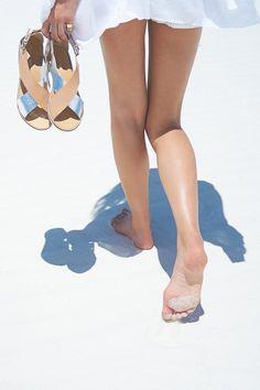Deena & Ozzy Treaded Cross-Strap Sandal