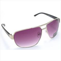 Serelo Silver Framed Fashion Sunglasses