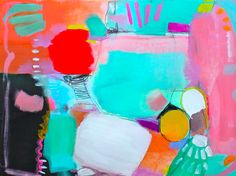 Jenny Andrews-Anderson: summer games #colorful #abstract #art