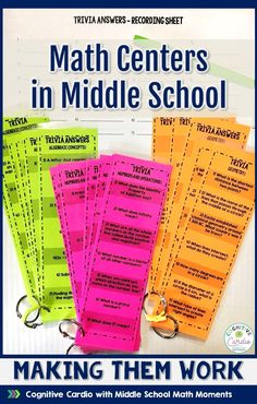 Grab these free math trivia cards to use with your middle school math centers or to quiz your math students at the end of class! Middle School Activities, Middle School Classroom, Math Classroom, Math Teacher, Teaching Math, Middle School Grades, Teacher Freebies, Kindergarten Math, Math Activities