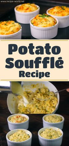 Potato Soufflé Recipe - My list of simple and healthy recipes Breakfast Souffle, Egg Souffle, Gourmet Recipes, Cooking Recipes, Healthy Recipes, Delicious Recipes, Yummy Food, Great Recipes, Recipes